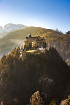 Castle Hohenwerfen. Planning the perfect winter trip to Austria? Best experiences and things to see in the Austrian Alps.