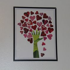 Tree of Hearts- made from old magazines