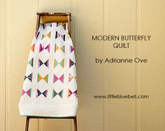 Little Bluebell: Finished Modern Butterfly Quilt and a New Pattern #patchwork #quilt #modernbutterfly