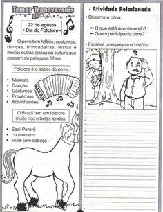 Textos Folclore 14 Com Imagens Atividades Sobre Folclore