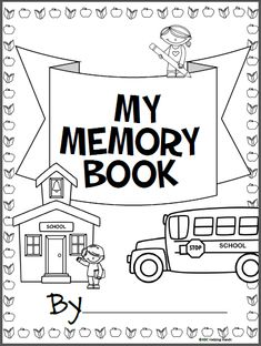 Free Memory Book for the end of the school year. There are 8 pages included. Use this for Kindergarten, 1st, and 2nd grade. The pages can all be printed and made into a book or just print and use the pages that you need.