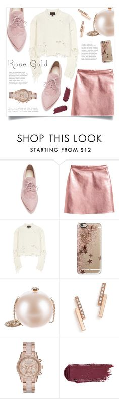 """""""Rose Gold"""" by sonny-m ❤ liked on Polyvore featuring Simone Rocha, adidas Originals, Casetify, Chanel, ZoÃ« Chicco, MICHAEL Michael Kors and rosegold"""