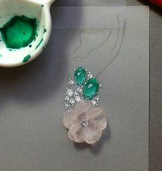 . Jewellery Sketches, Jewelry Drawing, Jewelry Sketch, High Jewelry, Jewelry Accessories, Jewelry Design, Jewelry Illustration, Hand Sketch, Diamond Stone