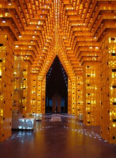 Brussels Belgium. Pavilion of Temporary Happiness. Made of beer crates