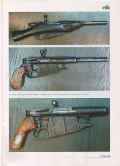 """""""Obrez"""" is an Eastern-European term for """"sawed-off"""", and originated around the time of the October Revolution in Russia. It was used to describe shortened Mosin-Nagant rifles, like this. Sci Fi Weapons, Weapon Concept Art, Fantasy Weapons, Weapons Guns, Guns And Ammo, Cool Guns, Military Weapons, Dieselpunk, Firearms"""