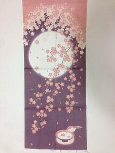 Tenugui, sakura fabric, Japanese hand towel, Japanese fabric, cotton fabric, Japanese bush warbler & SAKURA tapestry, tenugui gift on Etsy, ¥691.49
