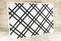 Bold Diamond DIY Pinboard #StencilYourHome