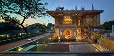 Circular windows and pyramidal skylights add geometry to Sjarief's home