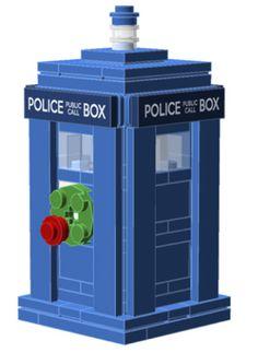 Instructions for building a lego tardis http://www.powerpig.ca/lego_ornament_guides_2013/police_box.pdf