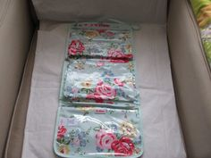 CATH KIDSTON BLUE FLORAL FOLD OUT 4 COMPARTMENTS TRAVEL TOILETRY BAG NEW | eBay