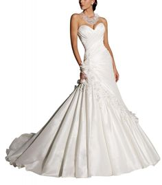 GEORGE BRIDE Sweetheart Neckline Strapless Taffeta Court Train Wedding Dress  Price: $488.00  Sale: $189.00