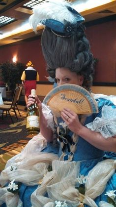 How to make a ridiculously high 18th century wig.