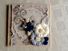 Pearl edging from 2.00shop bling from local craft shop, flowers from dusty attic,paper Dooley and rose background from my stash