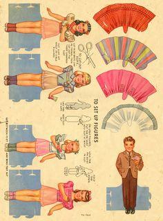 Kathleen Taylor's Dakota Dreams: Thursday Tab- National Syndicate Displays Birthday Party Dolls 1944