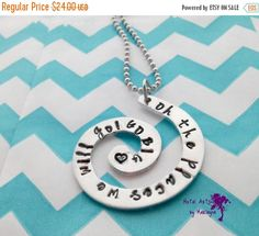 Hand Stamped Necklace Dr. Seuss Quote Necklace Hand Stamped Swirl Graduation Gift Celebration Necklace Mother's Day Sweetheart Necklace