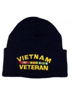 e914a9cbe5a Vietnam Veteran Knit Cap Vietnam War Veteran Hat Military Collectibles Men  Women - CS117JF08TJ