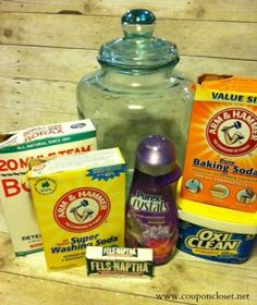 How to Make Homemade Laundry Detergent Save money cleaning #SaveMoney homemade cleaning