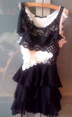 dress made of pieces of lace