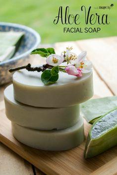 Learn how to make aloe vera soap with fresh aloe; also includes a cold process recipe for aloe vera facial soap bars.