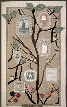 Ulla's Quilt World: Quilted family tree