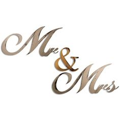 Letter2Word Hand Painted Mr & Mrs 3D Wall Sculpture ($55) ❤ liked on Polyvore featuring home, home decor, ivory and distressed home decor
