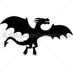 Dragon Silhouette, Silhouette Clip Art, Animal Silhouette, Silhouette Portrait, Silhouette Cameo Projects, Small Dragon Tattoos, Game Of Thrones Dragons, Jar Art, Dragon Party