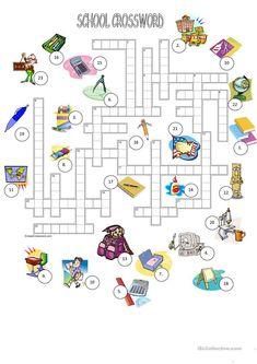 School crossword + KEY