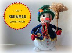 The Snowman  Crochet Pattern by ToyMagic PDF Instant