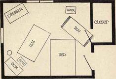 Apartment Furniture Arrangement Curtains Ideas For 2019 Arranging Bedroom Furniture, Vintage Bedroom Furniture, Apartment Furniture, Furniture Layout, Bedroom Decor, Industrial Furniture, Classic Furniture, Arrange Furniture, Rearranging Furniture