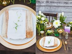 Baby Pea Shoot on Bamboo Plate by Alisa Lewis   Styled DIY Shoot by Alisa Lewis  Florals by Garden of Eden Specialty Rentals from the Attic  Photos by Urban Rose Photo Featured on @Ruffled
