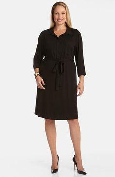 Karen Kane Belted Shirtdress (Plus Size) available at #Nordstrom