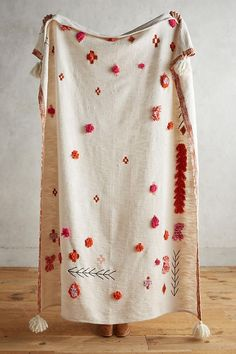 Heradia Embroidered Bedspread   anthropology