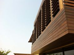 Timber Screen in Durban, Kzn North Coast South Africa . Louvred detail.