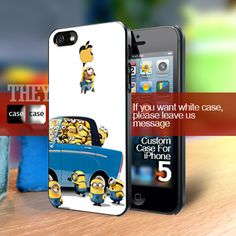 Despicable me minions funny apple iphone 4, 4S, 5 - Galaxy S2, S3, S4 | TheYudiCase - Accessories on ArtFire