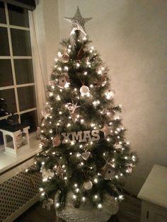 Prachtige landelijke kerstboom