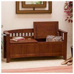 Bench Storage Furniture Wood Seat Entryway Cushion Indoor Decor Home Outdoor New #BenchStorageFurniture