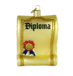 old world christmas diploma ornament