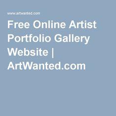 Free Online Artist Portfolio Gallery Website | ArtWanted.com