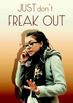 don't freak out - Cosima Orphan Black by tetyline Orphan Black, Sci Fi Series, Tv Series, Sarah Manning, Bbc Tv Shows, Black Tv, Black Picture, Tatiana Maslany, Bbc America