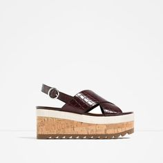 ZARA - WOMAN - WEDGES WITH CROSS-OVER STRAPS