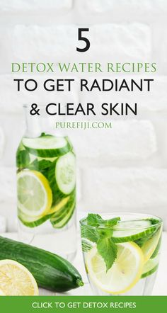 is the perfect way to get all the necessary nutrients required for clear, glowing skin. Water alone is key to great skin as it flushes out toxins, delivers nutrients to your cells and keeps your cells hydrated and hydrated skin = glowing skin. Detox Juice Recipes, Detox Drinks, Healthy Drinks, Smoothie Recipes, Smoothies, Smoothie Detox, Weight Loss Meals, Aloe Vera, Detox Water For Clear Skin