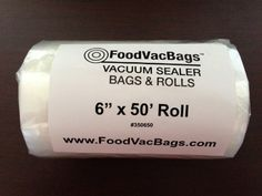 1 - 6x50 Vacuum Sealer Bag Roll Commercial Grade FoodSaver Type