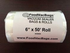 1 - 6x50 Vacuum Sealer Bag Roll Commercial Grade FoodSaver Type
