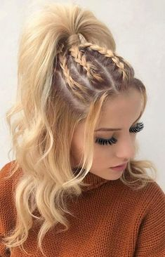 Best Braided Hairstyles Ideas to Inspire You Braided Hairstyle Braid ., Best Braided Hairstyles Ideas to Inspire You Braided Hairstyle Braid Ponytail. Cool Braid Hairstyles, Classic Hairstyles, Fancy Hairstyles, Trending Hairstyles, Hairstyles Haircuts, Hairstyle Braid, Braid Ponytail, Hairstyle Ideas, Black Hairstyle