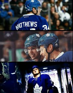 Toronto Maple Leafs rookies: Auston Matthews, Mitch Marner, and William Nylander.