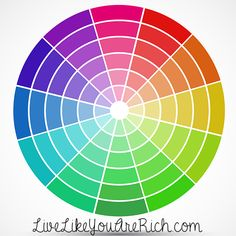 Nice color wheel with pastels included. How to Choose a Color Scheme for a Room You Want to Decorate