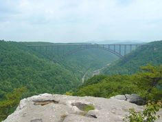 Long Point Trail, New River Gorge WV. Been here many times & always want to go back... nothing like being out on a rock, no guardrails, eye level with the bridge