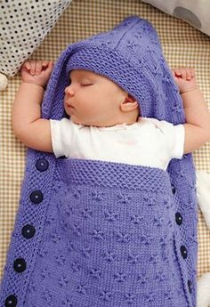 Baby Knitting Patterns Sleeping Bag PDF Knitting Pattern for a Baby Sleeping Bag Gorgeous honeycomb and butterfly st. Baby Knitting Patterns, Knitting For Kids, Crochet For Kids, Baby Patterns, Knitting Projects, Crochet Patterns, Blanket Patterns, Crochet Baby Cocoon, Knit Crochet