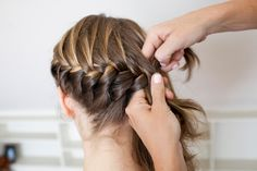 5 Gorgeous 'Dos For Cycling Chicks #refinery29  http://www.refinery29.com/helmet-hairstyles#slide21  Step 3: Continue the braid all the way around the head until you reach opposite ear.  Photographed by Anna-Alexia Basile