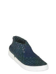 CASBIA - WOVEN LEATHER SNEAKERS - LUISAVIAROMA - LUXURY SHOPPING WORLDWIDE SHIPPING - FLORENCE
